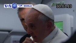 Đức Giáo Hoàng Phanxicô lên tiếng về người đồng tính (VOA60)
