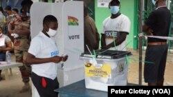 Masu kada kuri'a a Ghana.