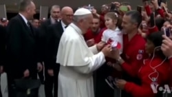 教宗方济各感谢红十字会志愿者对移民的帮助