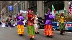 رقص و موسیقی ایرانی؛ رژه ایرانیان در منهتن نیویورک برگزار شد