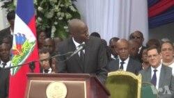 Diszkou Prezidan Ayiti a Jovenel Moise nan Okasyon Antèman Ansyen Chèf Deta René Préval