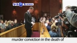 VOA60 Africa - Pistorius Denied Right to Appeal Murder Conviction