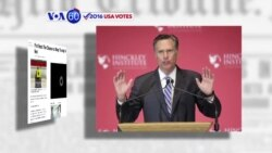 "VOA60 Elections - Mitt Romney called current Republican presidential front-runner Donald Trump ""a phony and a fraud"""