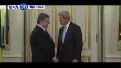 Ngoại trưởng John Kerry tới Kiev để hội kiến TT Ukraine (VOA60)