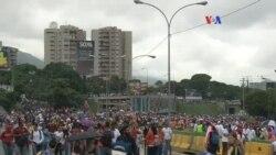 """Oposición realiza un """"gran plantón"""" en Venezuela"""