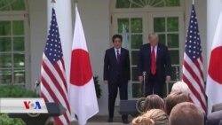 Abe, Berî Hilcivîna Trump ya ligel Kim, Hat Washingtonê