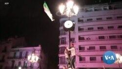 Célébrations à Alger après la démission de Bouteflika