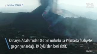 La Palma'da Lavlar Atlas Okyanusu'na Yaklaşıyor