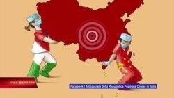 Dư luận Việt Nam phẫn nộ về bản đồ lưỡi bò của sứ quán TQ ở Ý
