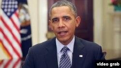 Barack Obama resaltó en su mensaje que los estadounidenses han tenido estancados sus salarios demasiado tiempo.