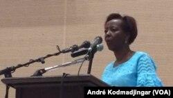 Louis Mushikiwabo, sécrétaire-générale de l'OIF, à N'Djamena, le 18 juin 2019. (VOA/André Kodmadjingar)