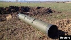 2014年10月2日俄羅斯製的一枚反坦克導彈。