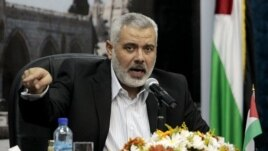 File Senior Hamas leader Ismail Haniyeh speaks to the media during a news conference in Gaza City.