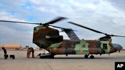 지난 1월 이라크 안바르 공군기지의 미군들. (자료사진)