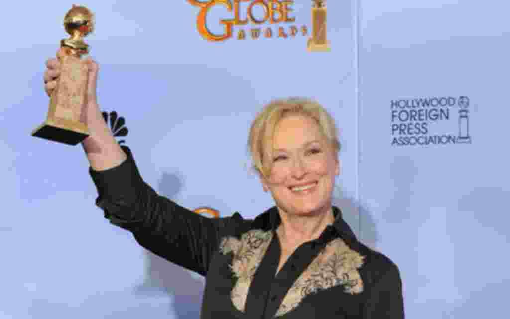 """Mejor Actriz: Meryl Streep por """"La dama de hierro"""" (The Iron Lady), papel que le hizo ganadora de un Premio Golden Globe."""