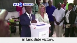 VOA60 Africa - Ivory Coast: President Alassane Ouattara wins a second term in landslide victory