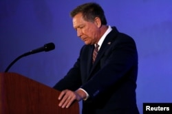 Republican US presidential candidate John Kasich speaks at the California GOP convention in Burlingame, California, US, April 29, 2016.