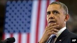 奧巴馬總統1月30日在田納西州納什維爾向高中生講話。