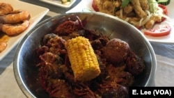 The Viet-Cajun crawfish is one of the popular items on the menu at the Houston-based restaurant, Crawfish & Noodles.