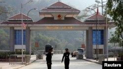 Cửa khẩu Thanh Thủy -Thiên Bảo tại Hà Giang. Trung Quốc hiện là đối tác thương mại lớn nhất của Việt Nam.