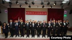 """2月25日,台湾总统蔡英文出席由台湾国际造船股份有限公司举办的""""国舰国造本土化供应商大会""""。(照片由台船提供)"""