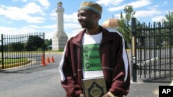 Othuman Ntale, outside the Muslim Community Center in Maryland, wants to correct negative perceptions of Islam.