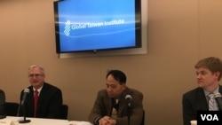 全球台湾研究所讨论美台网络安全合作议题(美国之音钟辰芳拍摄)