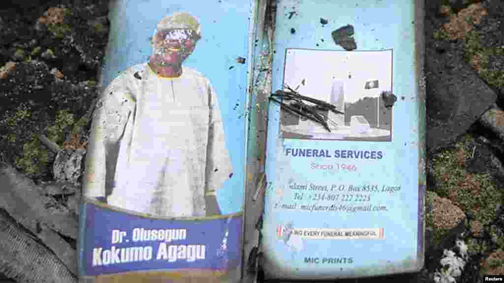 Burial pamphlets showing the photographs of former Ondo state governor Oluseg.