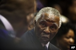 FILE - Former South African President Thabo Mbeki is shown in Cape Town, Feb. 10, 2011.