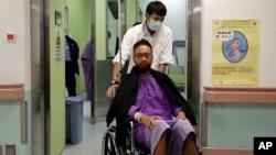 公民黨成員曾健超10月15日醫院檢查後的資料照片
