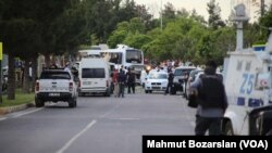 土耳其警车遇袭爆炸现场(2016年5月10日)