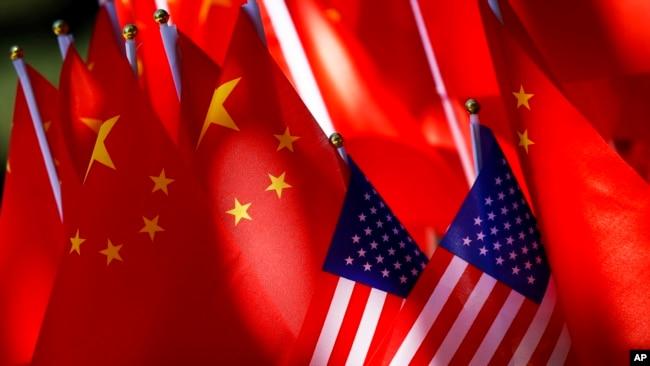 Quốc Kỳ Trung Quốc và Mỹ