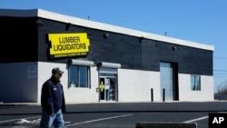 FILE - A Lumber Liquidators store.