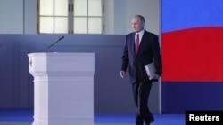 صدر پوٹن جمعرات کو اپنے اسٹیٹ آف دی یونین خطاب کے لیے آرہے ہیں جس میں انہوں نے نئے ہتھیاروں کی ویڈیوز بھی دکھائیں۔