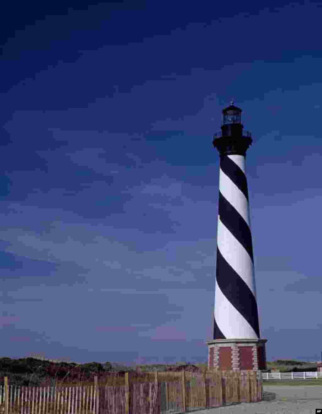 This lighthouse on Cape Hatteras in North Carolina is one of America's most-photographed.