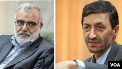 پرویز فتاح رئیس جدید بنیاد مستضعفان(راست) و مرتضی بختیاری رئیس جدید کمیته امداد