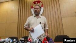 Wakil Ketua Komisi Pemberantasan Korupsi (KPK) Bambang Widjojanto saat memberikan keterangan pers di Jakarta (foto: dok).