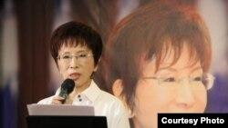 国民党主席洪秀柱资料照(美国之音杨明拍摄)