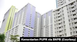 Wisma Atlet Kemayoran. (Foto: Courtesy/Kementerian PUPR via BNPB)