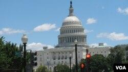 En el Capitolio, en Washington, miles de estadounidenses y visitantes se reunen a disfrutar de los fuegos artificiales. [Foto: Luis A Facal, VOA]