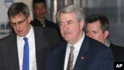 美國談判代表團成員於北京1月8日資料照。