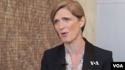 """La embajadora de EE.UU. en la ONU, Samantha Power dijo que la prueba misilística de Irán, la semana pasada fue """"una clara violación"""" de las sanciones de la ONU."""