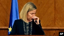 La chef de la diplomatie européenne, Federica Mogherini à Amman, en Jordanie, le 22 Mars, ici 2016.(AP Photo)