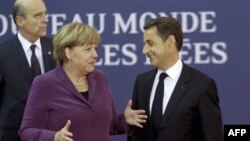 Nemačka kancelarka Angela Merkel i francuski predsednik Nikola Sarkozi
