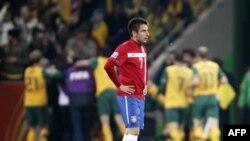 Srpski reprezentativac Zoran Tošić posle jednog od golova Australije