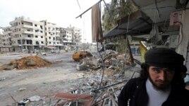 Aliyek ji pevçûnên derdora Şamê.