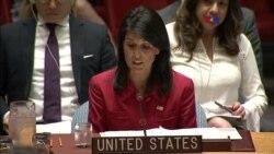 """""""No sólo los EE.UU. y nuestros aliados están bajo esta amenaza"""": Nikki Haley"""