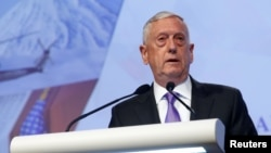 U.S. Secretary of Defense James Mattis speaks at the 16th IISS Shangri-La Dialogue in Singapore, June 3, 2017.