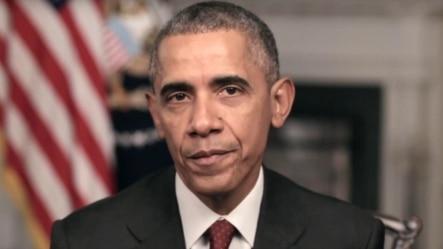 白宫英语视频截图:奥巴马总统敦促美国人展现慷慨(2015年11月26日)
