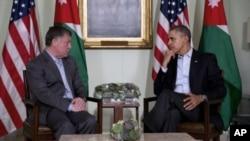 El rey de Jordania, Abdulá II, y el presidente Obama, en Rancho Mirage, en California.